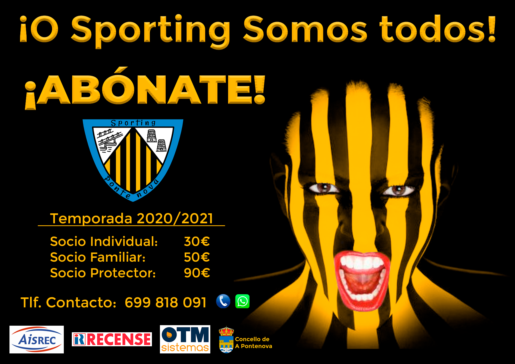 Campaña abonados 2020 Sporting Pontenova